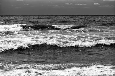 Photograph - Myrtle Beach Waves Mono by John Rizzuto
