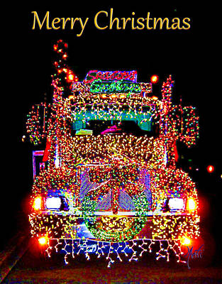Photograph - Myrtle Creek Christmas Timber Truck Parade by Michele Avanti