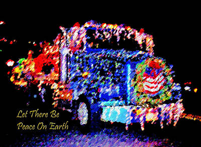 Photograph - Myrtle Creek Christmas Truck Parade Blue by Michele Avanti