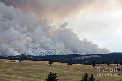 Print featuring the photograph Myrtle Fire West Of Wind Cave National Park by Bill Gabbert
