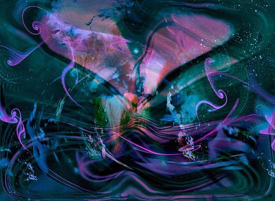 Abstract Movement Digital Art - Mysteries Of The Universe by Linda Sannuti