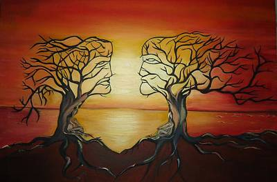 Tree Roots Painting - Mysterious Branches by Alka  Malik