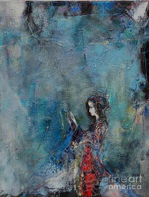Blue Painting - Mysterious Dance by Grigor Malinov