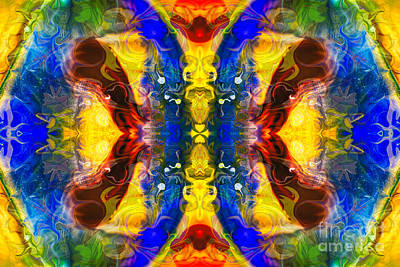 Digital Art - Mysterious Dimensions Abstract Pattern Artwork By Omaste Witkowski by Omaste Witkowski