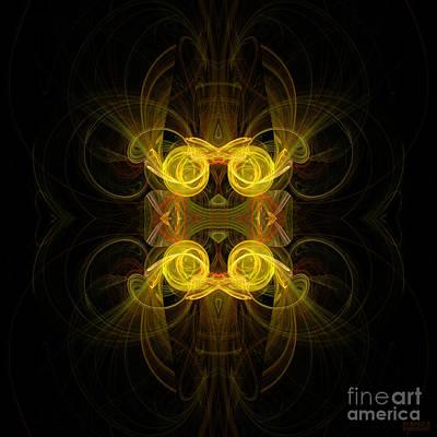 Art Print featuring the digital art Mysterious Energy by Hanza Turgul