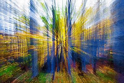 Spectral Painting - Mysterious Forest - A Secret Path To Another Dimension by Mihai Piltu