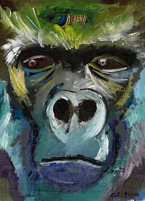 Painting - Mysterious Gorilla  by Katie Sasser