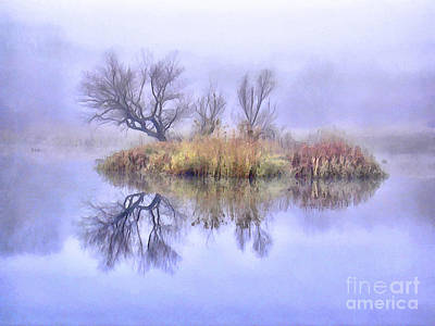 Wildlife Painting - Mysterious Lake 1 by GabeZ Art
