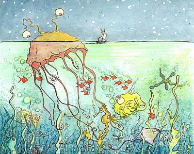 Mysterious Monster Art Print by Priscilla  Jo