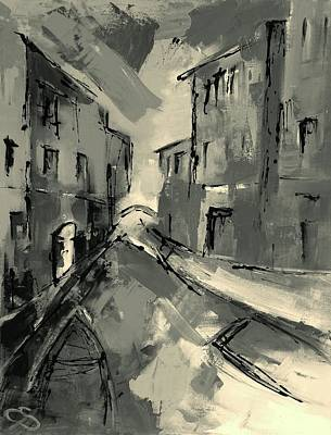 Painting - Mysterious Venice by Elise Palmigiani