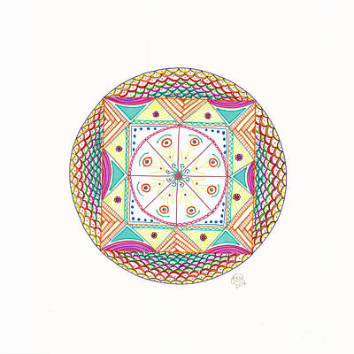 Mandala Drawing - Mystery Box by Signe  Beatrice