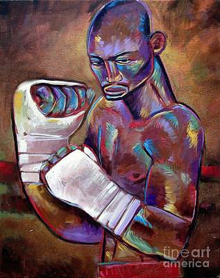Art Print featuring the painting Mystery Boxer by Robert Phelps