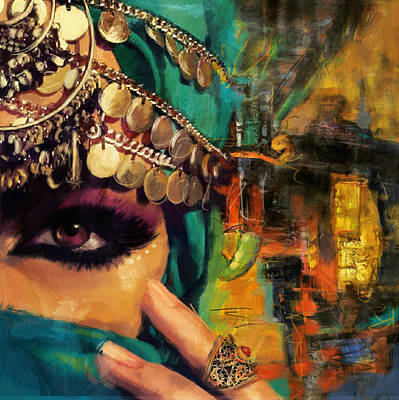 Arabian Nights Painting - Mystery by Corporate Art Task Force
