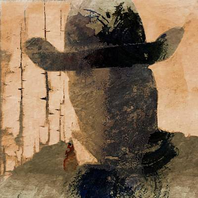 Mixed Media - Mysterious Cowboy  by Aaron Berg