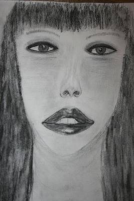 Drawing - Mystery Girl by Paula Brown