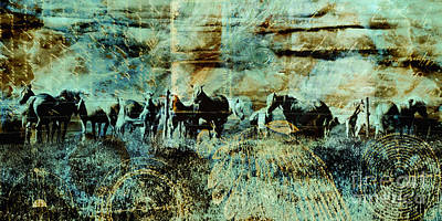 Judy Wood Digital Art - Mystery Herd by Judy Wood