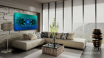 Digital Art - Mystery Of The Sargasso Sea - Art Ideas For Interior Design by Hanza Turgul