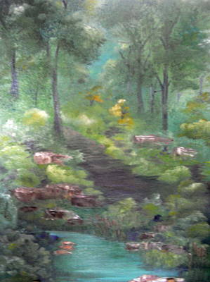 Art Print featuring the painting Mystery Path by Ellen Canfield