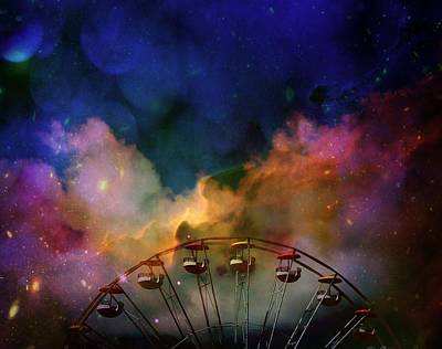 Take A Mystery Ride In The Multicolored Clouds Art Print
