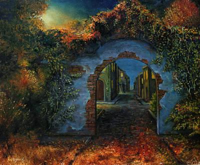 Painting - Mystery Town by Radoslav Nedelchev