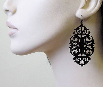 Laser Cut Jewelry Jewelry - Mystery - Victorian Lace Statement Earrings by Rony Bank