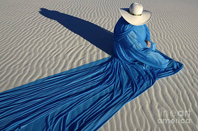 Mystic Blue 1 Art Print by Bob Christopher