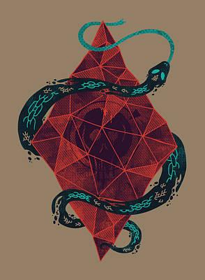 Scale Digital Art - Mystic Crystal by Hector Mansilla