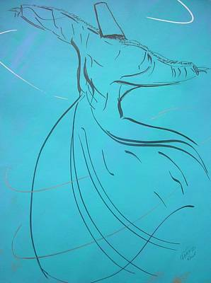 Painting - Mystic Dancer Parinda by Faraz Khan