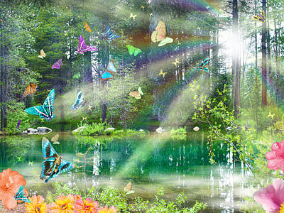 Alixandra Mullins Photograph - Mystic Foggy Forest by Alixandra Mullins