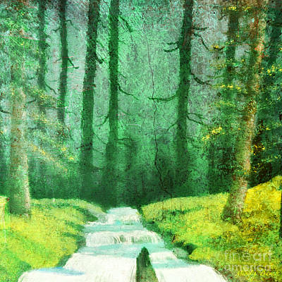 Kids Alphabet - Mystic forest creek by Mindy Bench