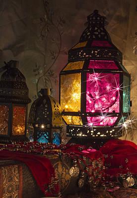 Lanterns Photograph - Glass Lanterns by Gina Mallory