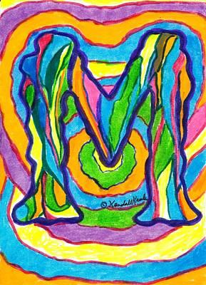 Drawing - Mystic M by Kendall Kessler