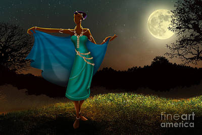 Mystic Moonlight V1 Art Print by Bedros Awak