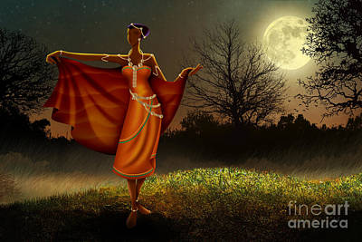 Mystic Moonlight V2 Art Print by Bedros Awak