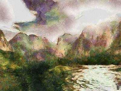 Mystic Nature Art Print by Mario Carini