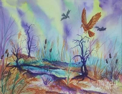 Painting - Mystic Pond by Ellen Levinson
