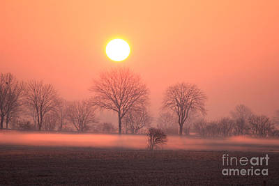 Mystic Red Sunrise Art Print