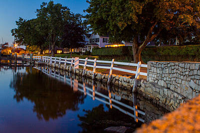Photograph - Mystic River Wall Reflection by Kirkodd Photography Of New England