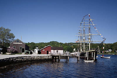 Photograph - Mystic Seaport In Connecticut by Carol M Highsmith