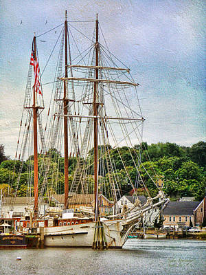 Photograph - Mystic Seaport  by Julia Springer
