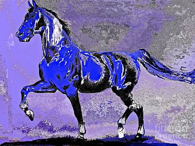 Painting - Mysterious Stallion Abstract by Saundra Myles