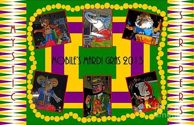 Mystic Stripers Parade Images 2013  Art Print by Marian Bell