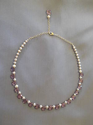 Delica Beads Jewelry - Mystic Topaz Pearl Necklace by Jan Durand