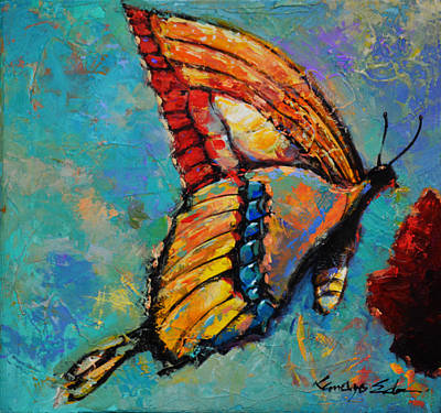 Painting - Mystic Wings by Kanayo Ede
