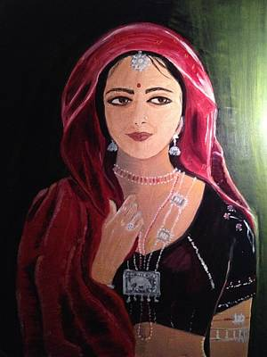 Art Print featuring the painting Mystic Woman by Brindha Naveen