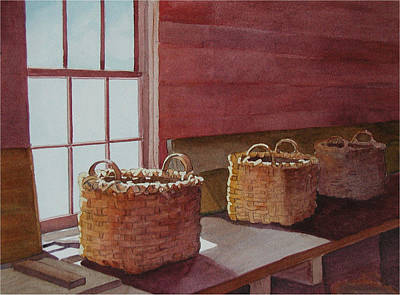 Painting - Mystical Baskets by Judy Mercer