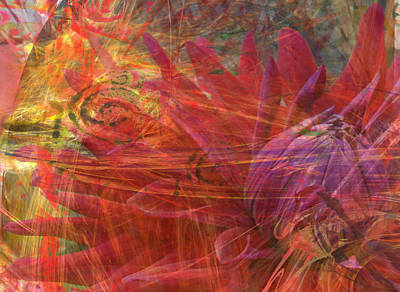 Remodernist Painting - Mystical Dahlia by Donna Walsh