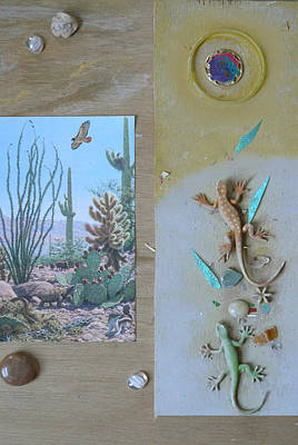 Mystical Desert  C Art Print by Mary Ann  Leitch