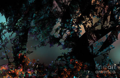 Nature Abstract Digital Art - Mystical Forest by Klara Acel