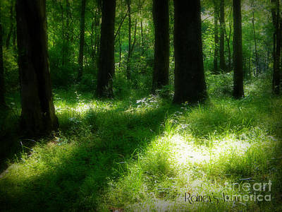 Mystical Forest Art Print by Lorraine Heath